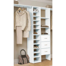 White Corner Space Organizer For Wood Closet System Selectives 11.75 In.