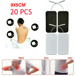 20x Large Replacement Tens Electrode Pads For Pulse Massager Unit White Cloth