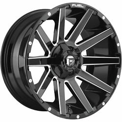 4- 20x9 Black Milled Fuel Contra D615 6x135 And 6x5.5 +20 Wheels Lt285/55r20 Tires