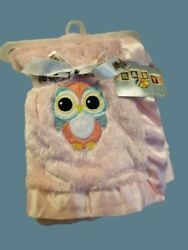 Htf Rare Bass Pro Shops Pink Owl Lovey Baby Blanket Soft Satin Trim New W/tag