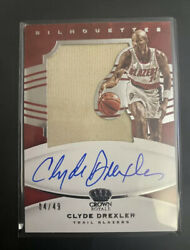 Clyde Drexler Patch Auto 2020-2021 Crown Royal Silhouettes Game Worn Blazers 🤩