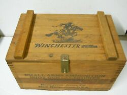 Vtg Wood Winchester Repeater Ammo Box Storage Display Dove Tail New Haven Conn.
