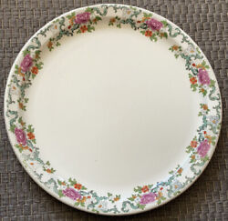 Booths China Floradora Multicolor Chop Plate - 12andrdquo Great Condition