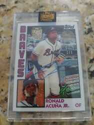 Ronald Acuna Jr 1/1 Topps Archives Signature Series 2021 Certified Autograph