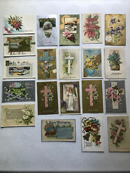 Lot Of 20 Antique Post Cards - Easter, New Years, Thanksgiving - 1909-1913