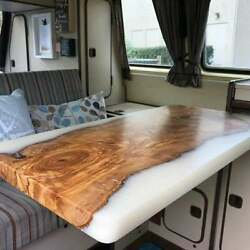 White Epoxy Wooden Acacia Din Table Top Interior Furniture Decors Made To Order