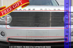 Gtg 2006 - 2009 Range Rover Hse 2pc Polished Replacement Combo Billet Grille Kit
