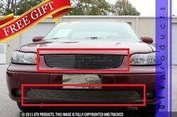 Gtg 2004 2005 Chevy Malibu Classic 2pc Polished Replacement Billet Grille Kit