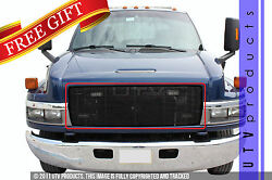 Gtg 2003 - 2009 Chevy Kodiak 1pc Gloss Black Replacement Billet Grille Grill