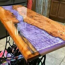 Epoxy Resin River Table Wooden Acacia Dining Table Furniture Decor Made To Order