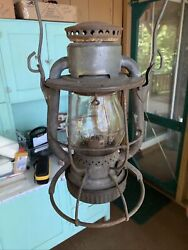 Rare Vintage Dietz Vesta Ny Central High Hat Lantern And Embossed Nyc Lines Clear