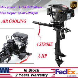 Hangkai 6 Hp 4 Stroke Outboard Motor Boat Engine With Air Cooling System Usa