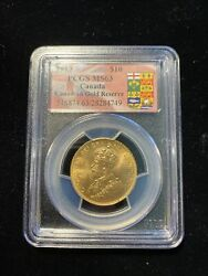 Canada 1913 10 Ms63 Pcgs Gold Reserve