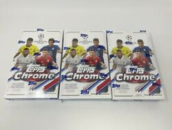 3 2020-21 Topps Chrome Uefa Champions League Soccer Factory Sealed Hobby Boxes