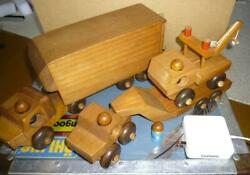 Wooden Toys Trailer Crane Car Made In Canada Little Vintage