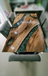 Custom Epoxy Table Furniture Resort,dining Room Decorative Wooden Made To Order