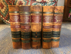 Southwestern Reporter Annotated Law Books Antique 1911 Lot Of Five H S Green