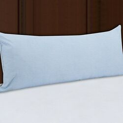 Mainstays HUGE Body Pillow in Blue and White Stripe 20quot; x 54quot;
