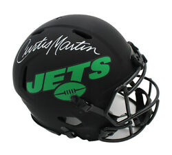Curtis Martin Signed New York Jets Speed Authentic Eclipse Nfl Helmet