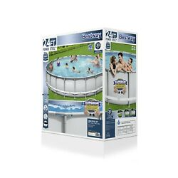 """Bestway Power Steel 24'x52"""" Frame Swimming Pool Set With Pump, Ladder,and Cover"""