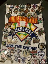 Cooperstown Dreams Park Baseball Pins Collection Of 44 2008 Ontario Cobras Bull