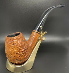 Ascorti Business Outstanding Bent Egg 9mm Estate Pipe W/briar Inlay Stem