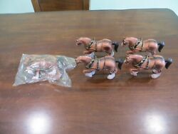 5 Cllysdale Draft Horses A Capsco Product Vintage Toy Lot Of 5 Work Horses