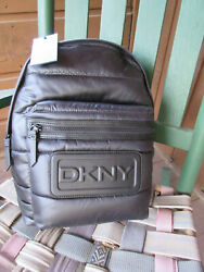 Dkny Torie Backpack Black Puffer Quilted Nylon 168 Retail Nwt