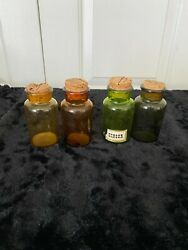 Lot Of 4 Spice/apothecary Jars/ Made In Japan