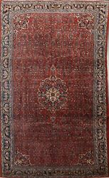 Antique Vegetable Dye Bidjar Hand-knotted Area Rug Wool Oriental Carpet 9and039x12and039