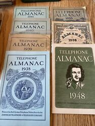 Vintage Lot Telephone Almanac Bell System American Telephone And Telegraph Co