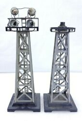 Marx Trains Rotating Beacon Tower And Flood Light Tower O Gauge