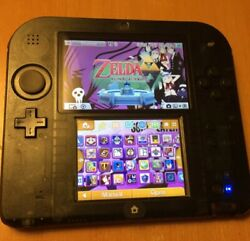 Nintendo 2ds Clear Black Modded And Us Motherboard