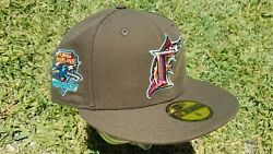 Rare My Fitteds New Era 8 Florida Marlins In The Night Kitchen Cap F Hat Brown