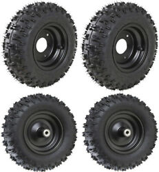 4 Sets Of Front And Rear Tire 4.10-6 Wheel Rims For Mini Bike Lawn Mower Go Kart