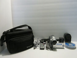 Sony Dvd Handycam Camcorder Dcr-dvd 201 Works W/carrying Case