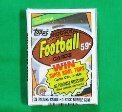 1984 Topps Football Factory Sealed Cello Pack Eric Dickerson Rookie Card Front