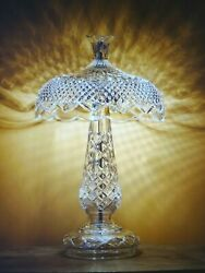 Waterford Crystal Achillbeg Lamp 47.5 Cm And Pair 5 X 7 Photo Frames