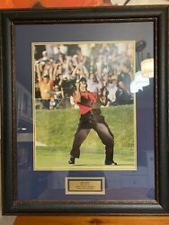 Tiger Woods The Putt Framed Photo 26 1/2 By 32 1/2