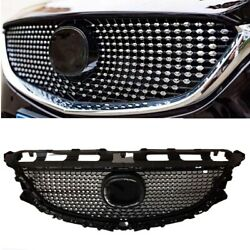 Diamond Front Bumper Mesh Hood Grille Grill For Mazda 6 Atenza 2014 2015 2016