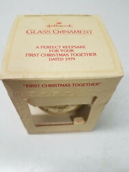 Vintage Hallmark 1979 Our First Christmas Together Ornament In Original Box