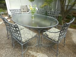 Brown Jordan Patio Dining Set Table And 6 Chairs, Cushions, Furniture Gorgeous