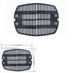 Grill Cast-iron Cooking Grates Replacement For Weber Q200, Q2000 Series, 2-pack