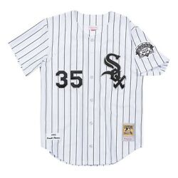 Chicago White Sox Frank Thomas Mitchell And Ness White Mlb 1993 Authentic Jersey
