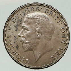 1936 United Kingdom Great Britain George V Silver Florin 2 Shillings Coin I92034