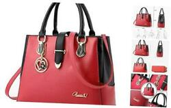 Purses And Handbags For Women Tote Shoulder Crossbody Bags With Long Strap Red