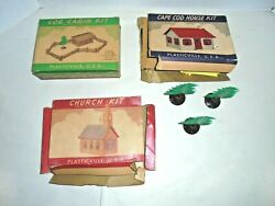 Plasticville Vintage O And S Gauge Houses And Church Kits For Your Train Town