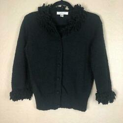 Coldwater Creek Black Button Up Jacket Size S
