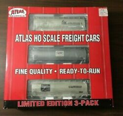 Atlas Ho Scale Ltd Ed. Acf 3 Bay Cylindrical Hopper 3-pack, New Private Owner