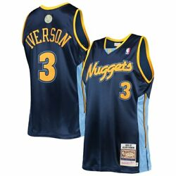Denver Nuggets Allen Iverson 3 Mitchell And Ness 2006-07 Nba Authentic Jersey